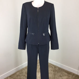 Calvin Klein 8 Navy Blue Pant Suit Career Cocktail